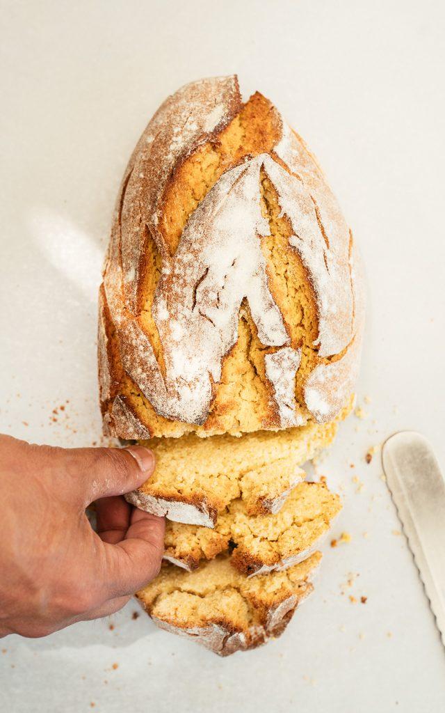 pão de milho (corn bread) at Doce Minho Bakery