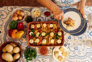 Bacalhau Maria Melo in the oven