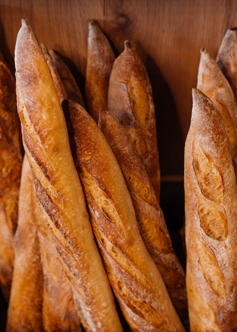 Fresh baguette at theUnboxed Market