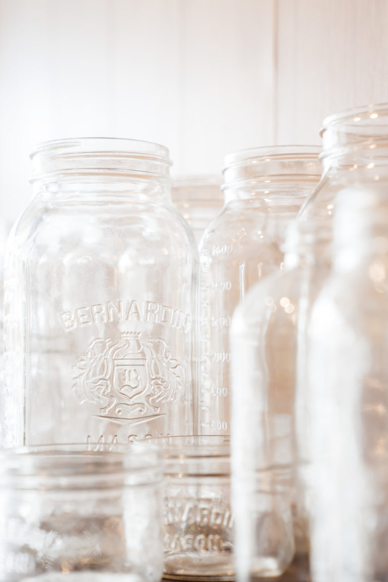 empty mason jars at theUnboxed Market