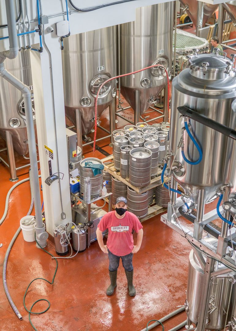 Brewmaster Blayne Caron Brock Street Brewing Co