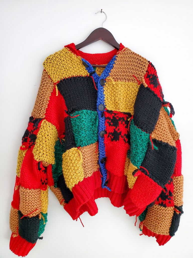 Colourful knit cardigan